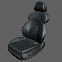 3d model seat sedan