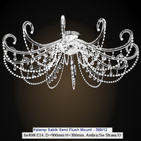 italamp  sabik ceiling lamp semi flush mount chandelier