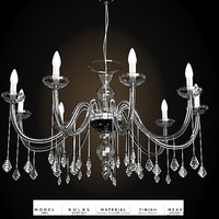 italamp 388-6 making light chandelier classic