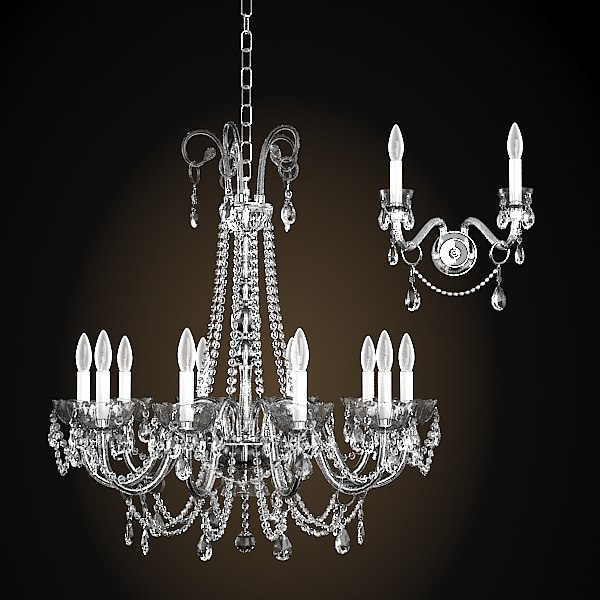 Chandelier And Wall Sconces : italamp collezione 262 3d model
