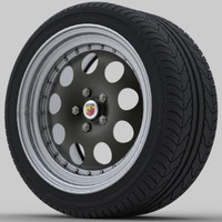 3d model rally wheel car