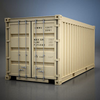 shipping 20 container 3d model