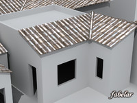 roof houses 3d max