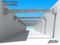 steel truss 3d model