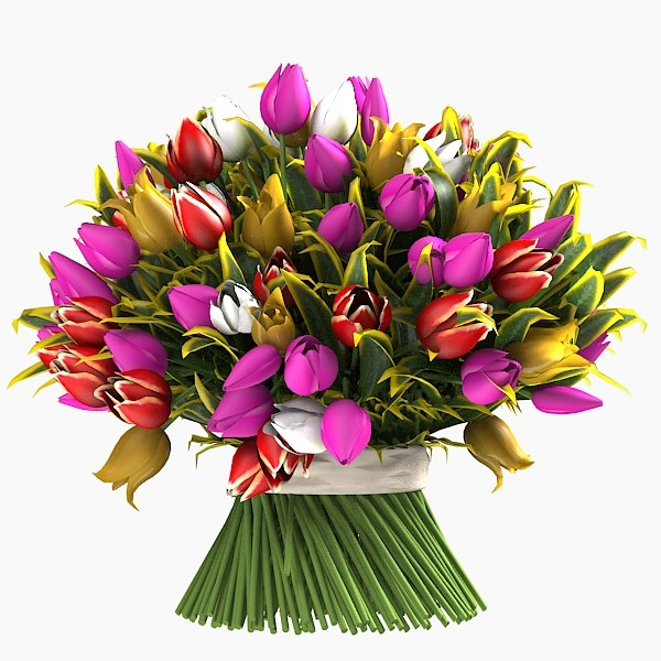 tulip bouquet flowers plant  accessories decor.jpg