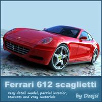 Ferrari 612 scaglietti + materials