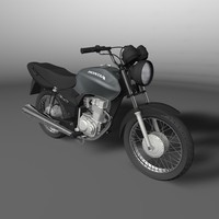 3d model honda cg fan 125