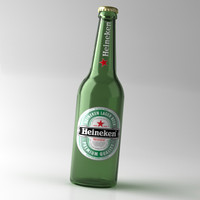heineken beer bottle lid 3d max