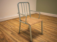 metal framed chair 3d max