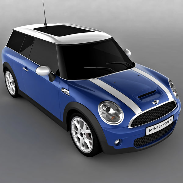 Clubman Mini Car Blue 3d Max