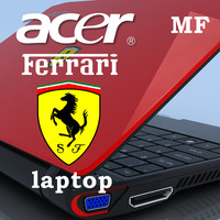 notebook acer ferrari 200 3d model