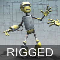 robot droid rig 3d model
