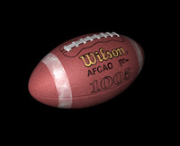 wilson football ball 3d model