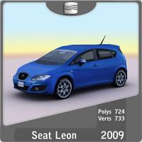 2009 seat leon 3d model