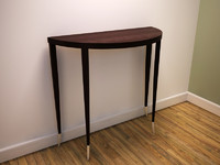 semi circular console table 3d model