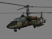 KA-52 Hocum-B Russian Attack Helicopter Gunship Game Ready model