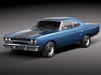 3d model of plymouth road runner 1970