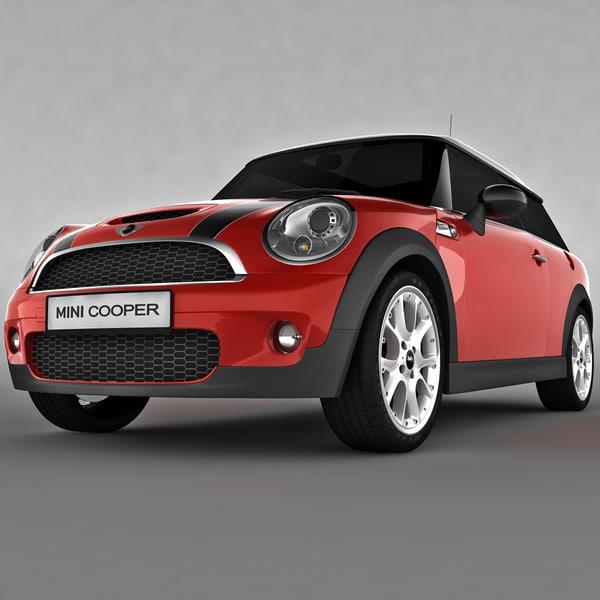 Clubman Mini Car Red 3d Model
