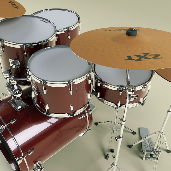 music instruments v2 drums 3d model - Music Instruments Collection V2... by 3d_molier
