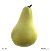 3d fruit pear model