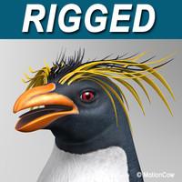 rockhopper penguin obj