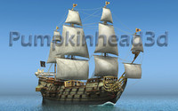 captain kidd 3d c4d