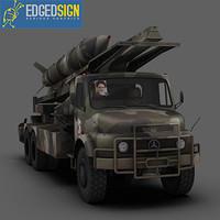 zelzal ballistic missile rocket 3d obj