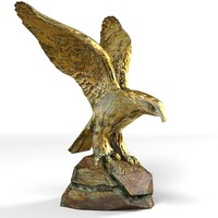 eagle statue wing 3d model