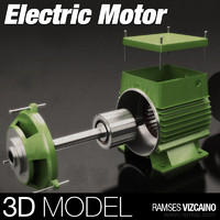 monofasic electric motor 3d obj