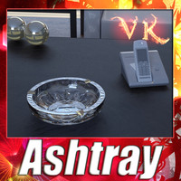 3d realistic ashtray crystal model