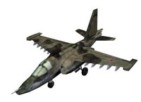 3ds max russian su-25 battle aircraft