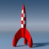 3d tintins rocket model