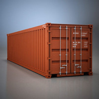 standard shipping container 3ds