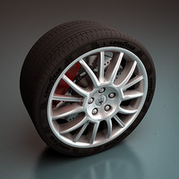 Maserati Wheel - Rim and Tire
