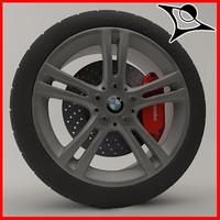 3d car brake tyre model
