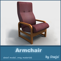 armchair interior furniture 3d model