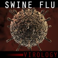 swine influenza virus 3d model