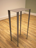 3d model contemporary metal table