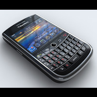 blackberry tour 9630 mobile phone 3d max
