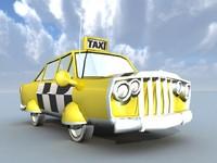 taxi car obj