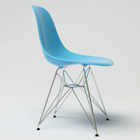 eames plastic chair dsr 3d model