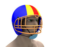 cinema4d football helmet