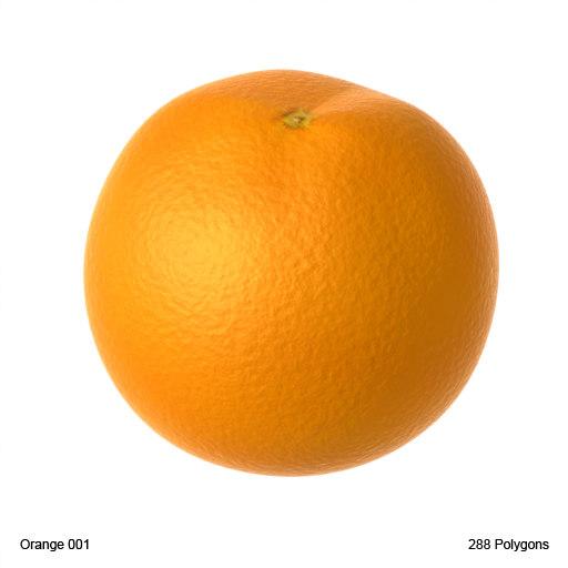 animated orange fruit
