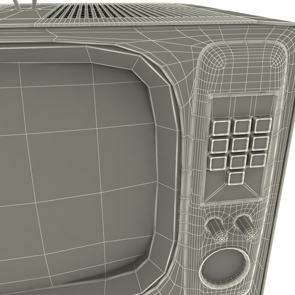 retro tv 3d model - Retro TV... by 3d_molier