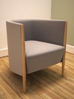 upholstered tub seat 3d model