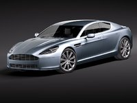 aston martin sport 2011 3d model