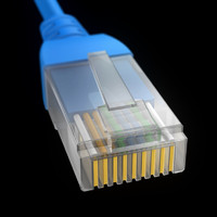 cat5 connector 3d model