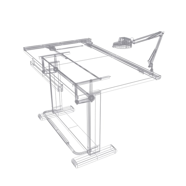 18 Drafting Tables In Interior Designs: Pro Drafting Table Set 3d Model