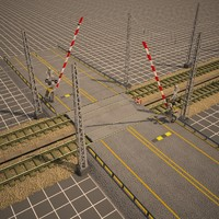 railroad crossing 3d 3ds
