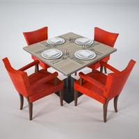 restaurant table 3d max